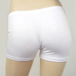 Boyshort Dance Undergarment Costume Shorts - WHITE