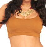 Comfy Criss-Cross Spaghetti Strap Dance Top - CARMEL