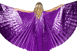 Closed Back Isis Wings Belly Dance Costume Prop - PURPLE