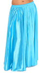 Satin Belly Dance Costume Skirt - BLUE TURQUOISE