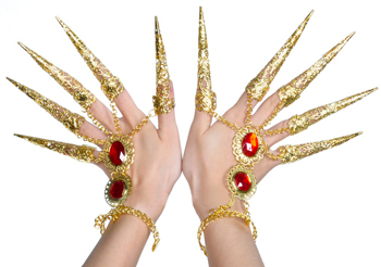Thai Dance Golden Fingernail / Finger Tips (PAIR)