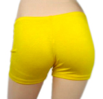 Boyshort Dance Undergarment Costume Shorts - YELLOW