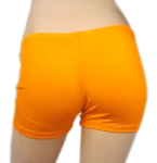 Boyshort Dance Undergarment Costume Shorts - ORANGE