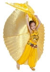 Kids Size Isis Wings Belly Dance Prop for Kids (Closed Style) - GOLD