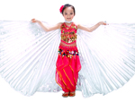 Kid Size Isis Wings Dance Prop for Kids (Closed Style) - WHITE OPAL