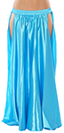 Satin Panel Circle Skirt for Belly Dancing - BLUE TURQUOISE
