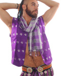 Men's Folk Belly Dance Vest - PURPLE