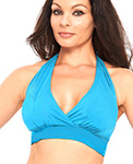 Comfy Stretch Halter Dance Top - BLUE TURQUOISE