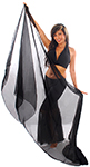 3-Yard Fine Chiffon Silky Lightweight Belly Dance Veil - BLACK