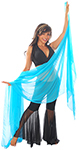 3-Yard Fine Chiffon Silky Lightweight Belly Dance Veil - TURQUOISE