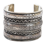 Imported Belly Dance Tribal Cuff Bracelet - SILVER