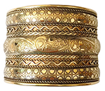 Imported Belly Dance Tribal Cuff Bracelet - GOLD