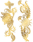 Custom Metallic Temporary Tattoo - GOLD HENNA