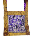 Vintage Sari Belly Dance Bag or Purse - ELEPHANTS & PEACOCKS