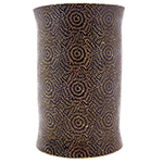 Extra Large Tribal Pattern Embossed Metal Cuff - BRONZE