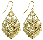 Diamond Shimmer Belly Dance Jewelry Earrings - GOLD