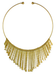 Indian Spoon Wire Collar Necklace - GOLD