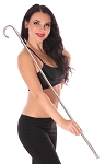 Egyptian Belly Dance Cane for Saidi Bellydance - SILVER