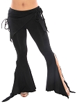 Tribal Fusion Gothic Belly Dance Pants - BLACK