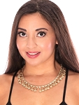 Classic Belly Dance Costume Necklace with Ghungroo Bells - GOLD