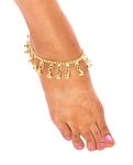 Chain Bell Anklet - GOLD