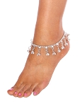 Chain Bell Anklet - SILVER