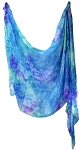 Silk Tie Dye Belly Dance Veil - RAINFOREST
