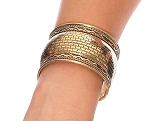 Embossed Tribal Cuff Belly Dance Costume Bracelet from India