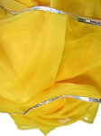 Petite Chiffon Belly Dance Veil with Sequin Trim - YELLOW / SILVER