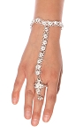 Metal Belly Dance Jewelry Slave Bracelet with Ghungroo Bells  - SILVER