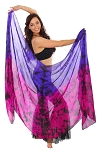 Tie-Dye Silk Belly Dance Veil - GALAXY