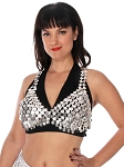 Coin Bra Cover for Belly Dance Costuming  - SILVER