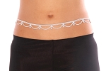 Belly Dancer Belly Chain Belt with Swags - SILVER
