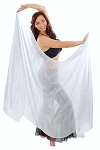 Silk Belly Dance Veil - WHITE