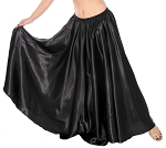 Satin Belly Dance Costume Skirt - BLACK