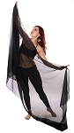 3-Yard Chiffon Veil for Belly Dance - BLACK