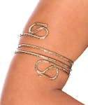 Serpentine Metal Spiral Arm Band - GOLD