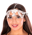 Belly Dancer Metal Coin Headpiece - SILVER