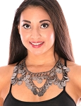 Black Coin Swag Belly Dance Necklace - HEMATITE