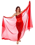 3-Yard Chiffon Veil for Belly Dance - RED