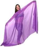 3-Yard Chiffon Veil for Belly Dance - PURPLE
