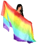 Ombre Silk Belly Dance Veil - RAINBOW