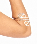 Serpentine Metal Spiral Arm Band - SILVER
