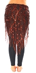 Elegant Sequin Fringe Mesh Hip Scarf - CHOCOLATE BRONZE