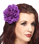 Hair Flower Costume Accessory - DARK PURPLE