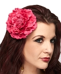 Hair Flower Costume Accessory - DARK PINK