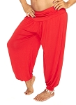 Comfy Stretch Harem Pants - RED