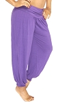 Comfy Stretch Harem Pants - DARK PURPLE