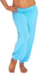 Comfy Stretch Harem Pants - LIGHT BLUE TURQUOISE