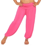 Comfy Stretch Harem Pants - DARK PINK